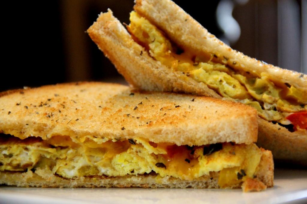 Egg Omelette Sandwich